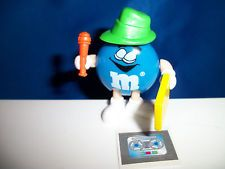 M&M Blue REPORTER /RAPPER M&M's French Pocket Surprise OCCUPATIONS Figurine M&Ms