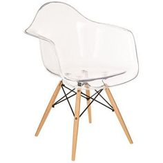 Transparent plastic chair with wood legs. Industrial style office chair with clear plastic seat at Hobby Lobby. Cute Desk Chair, Diy Chair, Diy Makeup Chair, Pink Desk Chair, Modern Desk Chair, Pallet Chair, Chair Bench, Hobby Lobby Furniture, Farmhouse Stools