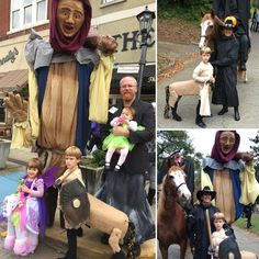 Halloween 2015. Costumes of a centaur, and Narnia giant by Megan Brightwell- lamppost by Scott Brightwell.