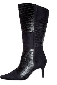 Biker Boots,fashion Zipper Wide Cal | Zippers, Products and Boots ...