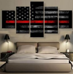 Large Framed American Flag Police Thin Blue Line Canvas Print Home Decor Wall Abstract Canvas Wall Art, Wall Canvas, Canvas Prints, Canvas Frame, Painting Canvas, Diy Canvas, Canvas Artwork, Blue Line Police, Room Decor