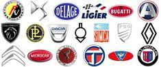 French car brands Microcar, Car Logos, Automobile Industry, Car Makes, Car Brands, Buick Logo, Bugatti, Peugeot, Symbols