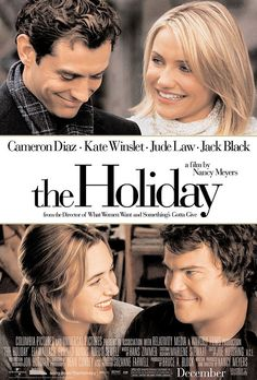 The Holiday Movie Perfect pairing - Jude Law with Cameron Diaz and Kate Winslet with Jack Black.LOVE this romantic holiday movie! Jude Law, Film Music Books, Music Tv, Art Music, Romantic Christmas Movies, Holiday Movies, Christmas Time, Xmas Movies, Holiday Fun