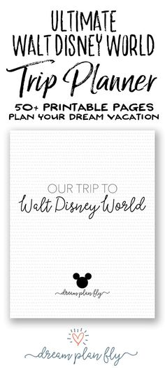Create Your Own Ultimate Walt Disney World Vacation Planner with more that 50 pages full of practical, fun worksheets, spreadsheets, and guides to help you plan the vacation of your dreams. Once you have your Walt Disney World tickets, you'll want to purchase this planner to organize your trip and keep all your plans in one place from dining to FastPass+, this planner will be with you every step of the way. It is the perfect companion to a great travel guide. Dream Plan Fly