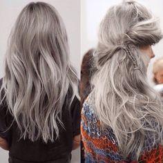 Серые волосы 2016 70 фото