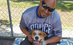 """Angel is a disabled #Navy veteran who admits that if not for his disability, he would still be serving our country. Instead he embraces the positive in life by focusing on his young family, which now includes an adopted adult dog who just """"needs love."""" Read more: https://petsforpatriots.org/disabled-navy-veteran-throws-lifeline-to-adult-shelter-dog/ #PetsForPatriots"""