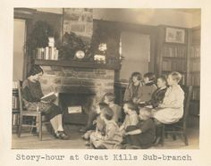 Story-hour at Great Kills sub-branch. New York Public Library