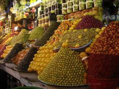 Fruit market display