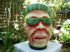 What happens when you stay in the sun too long? Before pumpkin season starts - a few final watermelon carvings.