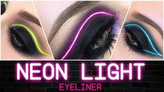 Neon Light Eyeliner Makeup Tutorial | Français / English | Marion Cameleon