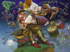Victor Nizovtsev Paintings and Biography One Man Band.   Hues Differ