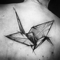 Large sketch style crane by Inez Janiak