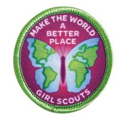 MAKE THE WORLD A BETTER PLACE SEW-ON PATCH (BUTTERFLY) - Girl Scouts official online shop