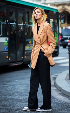 Swap your classic black blazer for an oversize option.