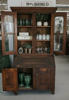 1800s wood Secretary Antique Farmhouse, Farmhouse Homes, The Found Cottage, Not Going Home, Guest Ranch, Bring Them Home, Bistro Set, Shabby Chic Homes, How To Antique Wood