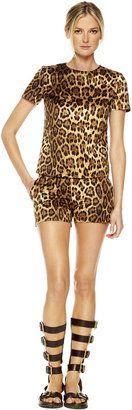 ShopStyle: Michael Kors Leopard-Print T-Shirt