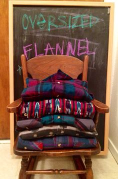 only $8.00 to order a mystery oversized vintage flannel shirt! I so want to do this!