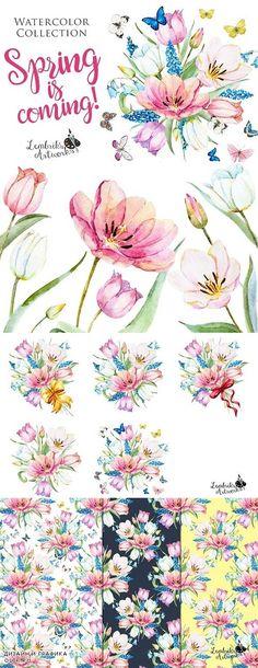 Spring is coming! Gentle watercolors - 530400