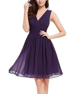 FavorGrace Women V-neck Sheer Layer short Bridesmaid Dresses TAILOR MADE
