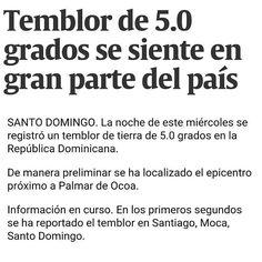> #Jaraguenses sintieron temblor magnitud 5 el epicentro fue en San Jose de Ocoa  #temblor #earthquake
