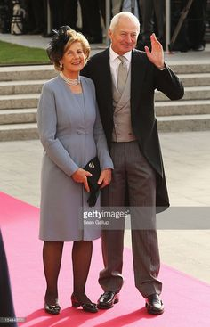 Prince Hans-Adam II of Liechtenstein and Princess Marie-Aglae of Liechtenstein attends the wedding ceremony of Prince Guillaume Of Luxembourg and Princess Stephanie of Luxembourg at the Cathedral of our Lady of Luxembourg on October 20, 2012 in Luxembourg, Luxembourg. The 30-year-old hereditary Grand Duke of Luxembourg is the last hereditary Prince in Europe to get married, marrying his 28-year old Belgian Countess bride in a lavish 2-day ceremony.  (Photo by Sean Gallup/Getty Images)