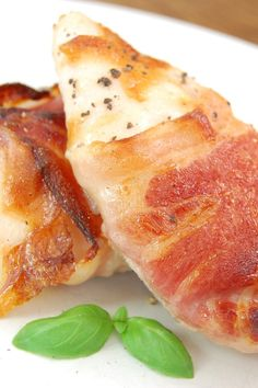 Bacon Wrapped Chicken Stuffed with Chive & Onion Cream Cheese: Simple & flavorful 3 ingredient recipe. Can be made ahead & kept in the freezer!