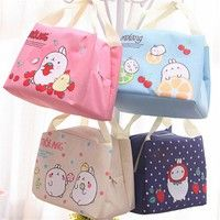 Wish | 1pcs Cute Insulated Cooler Thermal Picnic Portable Lunch Bag Food Storage Pouch Tote Kitchen Tools