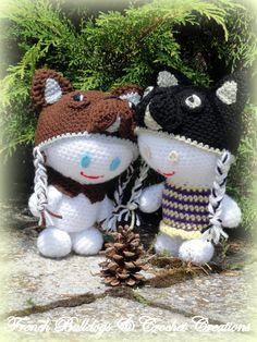 Amigurumi French Bulldog, Snowman, Christmas Ornaments, Holiday Decor, Outdoor Decor, Home Decor, Amigurumi, Xmas Ornaments, Bulldog Frances