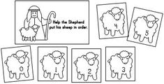 Jesus storybook Bible supplemental activity for Kindergarten Lesson 15: the Good Sheperd   Help the sheperd count his sheep.