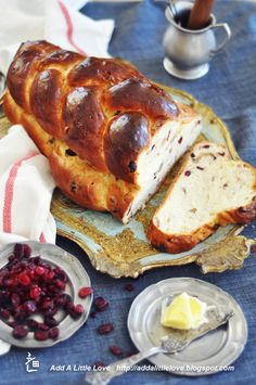 Cranberry Walnut Challah~Yum!