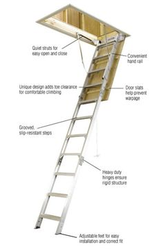 Aluminum Attic Ladder With 375 Lb. Maximum Load Capacity