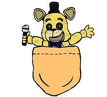 Five Nights at Freddy's - Golden Freddy Pocket by GalaxyHowl