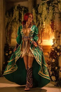 Triss Merigold from The Witcher 3 Cosplay - Fantasy Art Village Triss Cosplay, Triss Merigold Cosplay, Cosplay Anime, Cosplay Akatsuki, Cosplay Girls, Witcher Triss, Witcher Art, The Witcher 3, Witcher Wallpaper