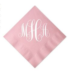 Cocktail Napkins with Large Monogram  Set of 100 by GraciousBridal, $36.00