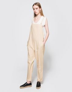 Long Strap Overall in Sand