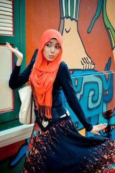 hijab style  #brightcolour