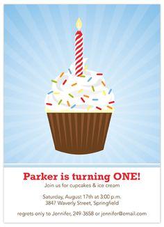 Cupcake Wow Children's Birthday Party Invitation