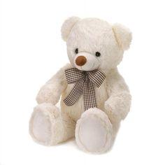Cream Bear With Bow Plush 18'