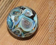 Handcrafted soft glass lampwork mini paperweight, love making these. :)