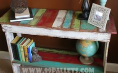 Sofa table or coffee table or entry table made out of recycled pallets.