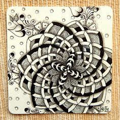 Lily's Tangles: Diva's Challenge and weekly tiles