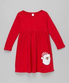 Look at this #zulilyfind! Red Old Saint Nick Dress - Infant, Toddler & Girls #zulilyfinds