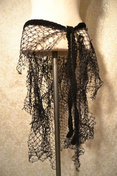 Completely constructed from assortment of netting. each has a crocheted…