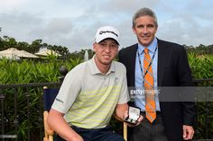 Deputy Commissioner Jay Monahan presents cufflinks to Daniel Berger and other first time participants during practice for THE PLAYERS Championship on THE PLAYERS Stadium Course at TPC Sawgrass on May 6, 2015 in Ponte Vedra Beach, Florida.