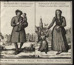 Hollandse dorpelingen, enz. Allard, Abraham (ca. 1676-1725). Published 1713. Sardam