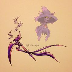 Pokeapon No. 429 - Mismagius. #pokemon #mismagius #sickle #pokeapon