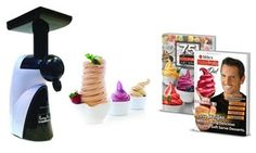 The Tutty Fruity Soft Serve Maker is a compact soft serve machine that allows you to make creamy fruity soft serves at home