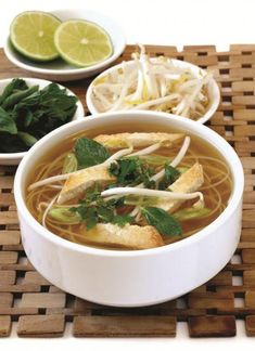 Vegan Pho with Coconut Ginger Broth and Pan-Seared Tofu