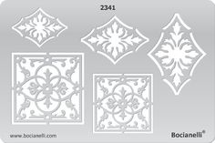 Plastic Stencil Template for Graphical Design Drawing Drafting Metal Clay Jewellery Jewelry Making -