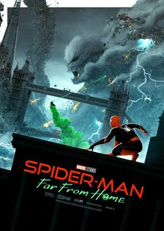 'Spider-Man: Far From Home' Free Mini Print by Matt Ferguson through HMV Tom Holland, Best Movie Posters, Love Posters, Spiderman, Marvel Heroes, Marvel Dc, Watercolor Wallpaper Iphone, Villainous Cartoon, Hero Arts